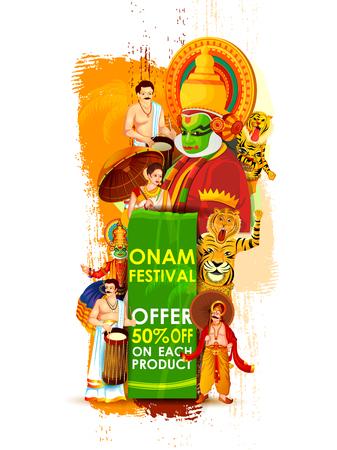 Happy Onam Big Shopping Sale Advertisement vector.