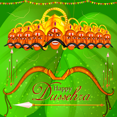 Ravana in Happy Dussehra festival of India