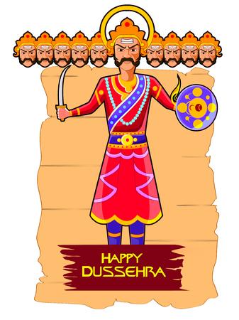 Ravana in Happy Dussehra festival of India