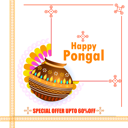 Happy Pongal holiday festival celebration background