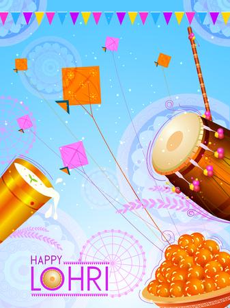 Happy Lohri holiday festival of Punjab India