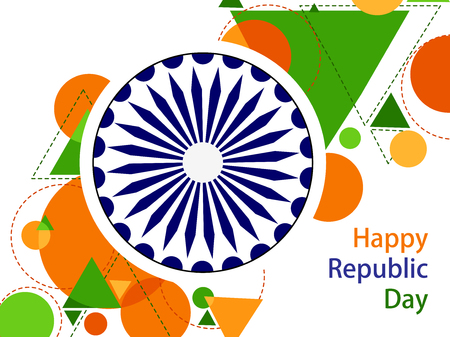 26 januari Happy Republic Day van India achtergrond