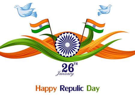 26. Juli Happy Republic Day von Indien Hintergrund Standard-Bild - 92166303