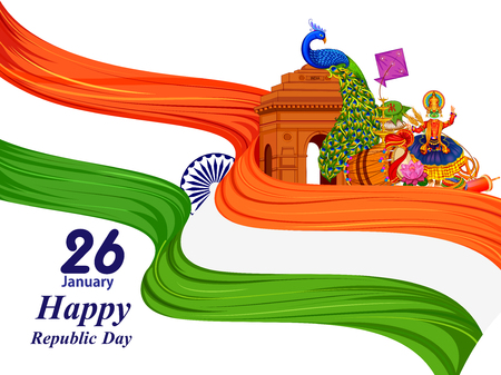 26 January Happy Republic Day of India background Stock fotó - 92166306