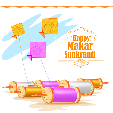 Happy Makar Sankranti holiday India festival background
