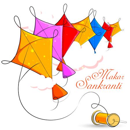 Happy Makar Sankranti holiday India festival background Stock Vector - 92166439