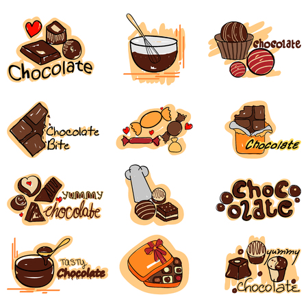 vector illustration of yummy Chocolate label tag sticker for Advertisement