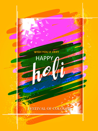 vector illustration of India Festival of Color Happy Holi background Illustration