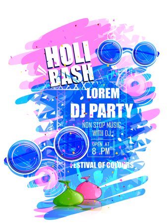 India Festival of Color Happy Holi DJ Party background