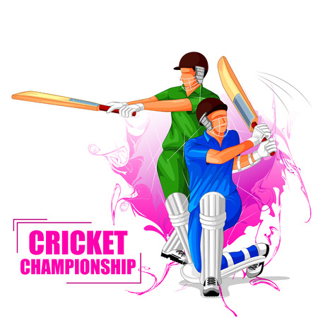 Cricket Championship Tournament design with two players.