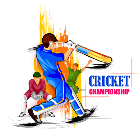 Sports background for the match of Cricket Championship Tournament 일러스트