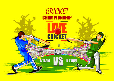 Cricket Championship Tournament poster with players in action.