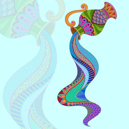 Aquarius Astrological Zodiac Sign concept vector illustration