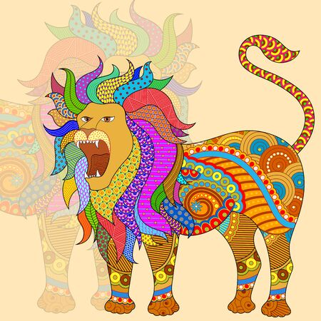 Vector illustration of Leo Astrological Zodiac Sign Illustration
