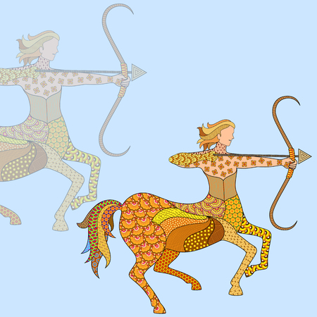 Vector illustration of Sagittarius Astrological Sign