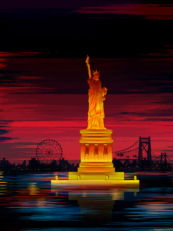 Statue of Liberty world famous historical monument of United States of America