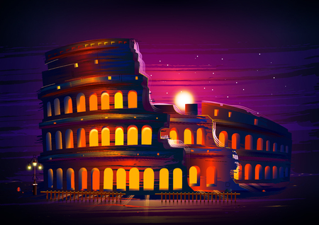Roman Colosseum world famous historical monument of Rome, Italy