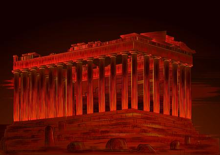 Parthenon world famous historical monument of Athenian Acropolis, Greece