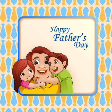 Happy Fathers Day greetings background Illustration