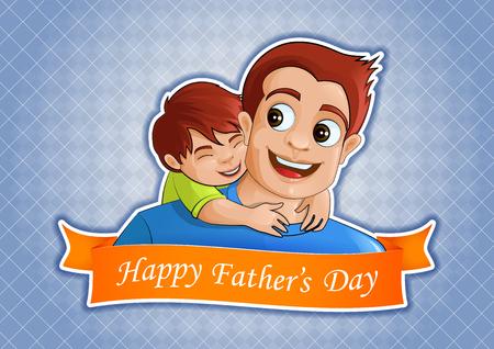 Happy Fathers Day greetings background Çizim