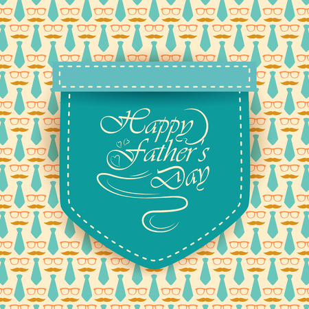Happy Fathers Day greetings background Иллюстрация