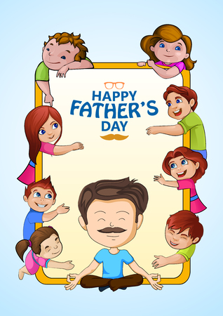 Happy Fathers Day greetings background Ilustracja