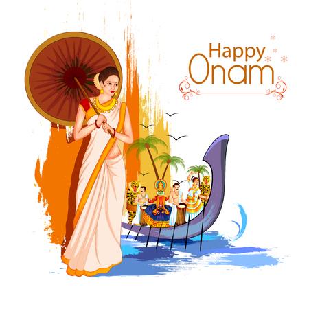 Happy Onam Festival Background Standard-Bild - 104729873