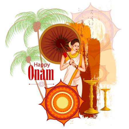 Happy Onam Festival background of Kerala