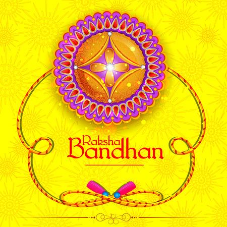 Decorated rakhi for Indian festival Raksha Bandhan Vector Illustration