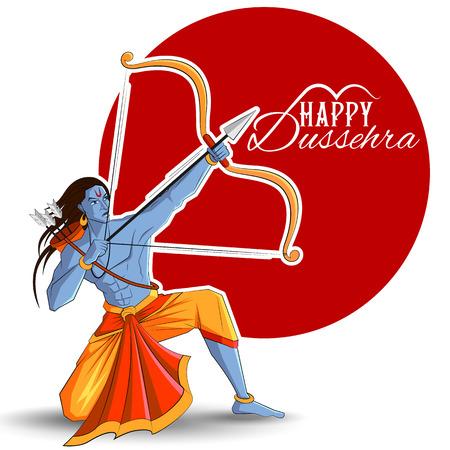 Lord Rama uccide Ravana al festival Happy Dussehra in India