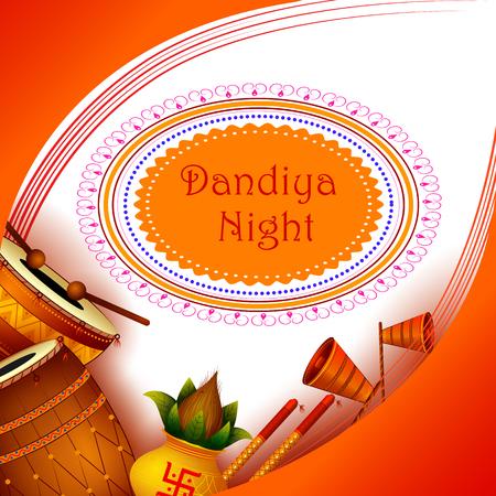 Dandiya night celebration Navratri during Dussehra with Dhol