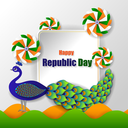 26 January Happy Republic Day of India background