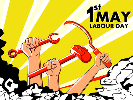 Concept   for Happy Labour Day on 1st May