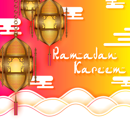 Lamp for Ramadan Kareem Greetings for Ramadan
