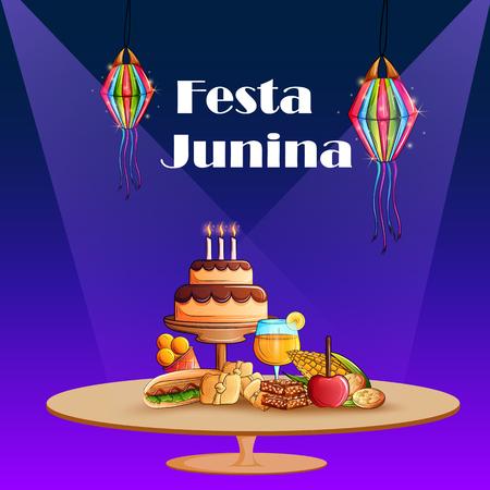 Festas Junina celebration background for traditional holiday of Brazil