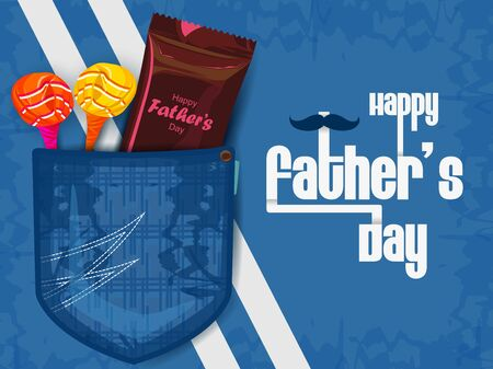 Happy Fathers Day holiday celebration greetings background