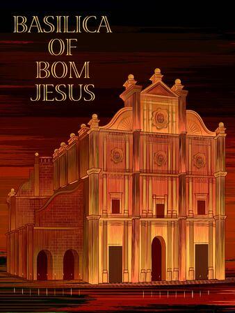 Historical monument Basilica of Bom Jesus in Goa, India