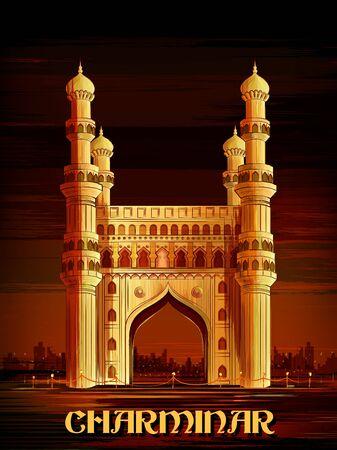 Historical monument Charminar in Hyderabad, Telangana, India