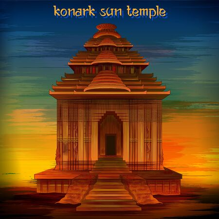 Historical monument Konark Sun Temple in Puri, Odisha, India