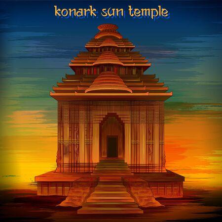 Historical monument Konark Sun Temple in Puri, Odisha, India