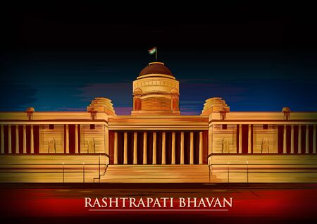 Historical monument Rashtrapati Bhavan in New Delhi, India