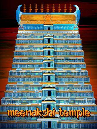 Historical monument Meenakshi Temple in Madurai, Tamil Nadu, India