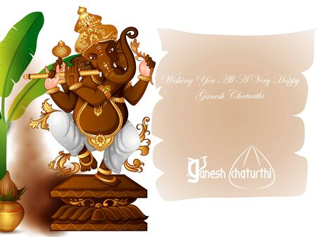 Lord Ganapathi for Happy Ganesh Chaturthi festival religious banner