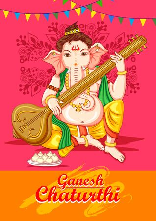 Indian Lord Ganapathi for Ganesh Chaturthi festival of India