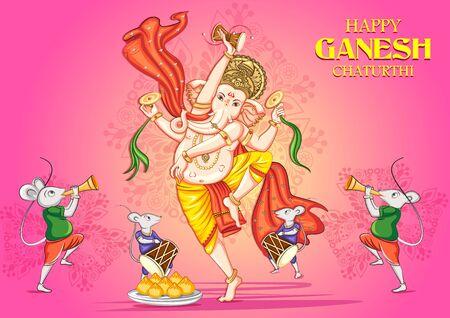 Signore indiano Ganapathi per il festival Ganesh Chaturthi dell'India Vettoriali