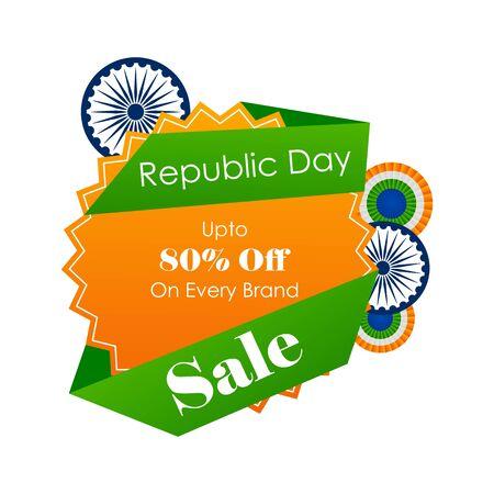 Verkaufsförderungs-Werbebanner-Vorlage für den 26. Januar Happy Republic Day of India Hintergrund