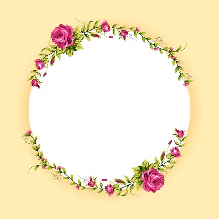 Spring fresh flower in floral banner poster background