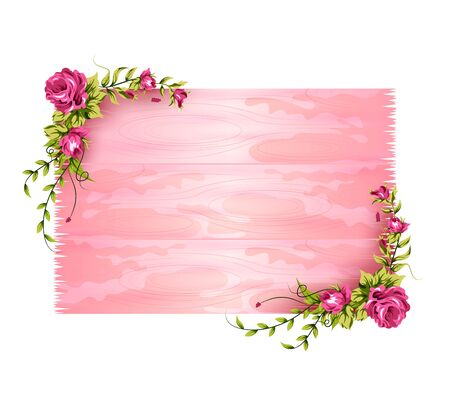 Spring fresh flower in floral banner poster background