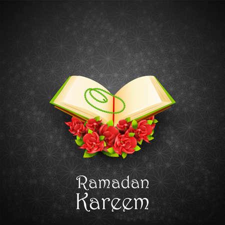Ramadan Kareem Greetings background for Islamic religious festival of Eid