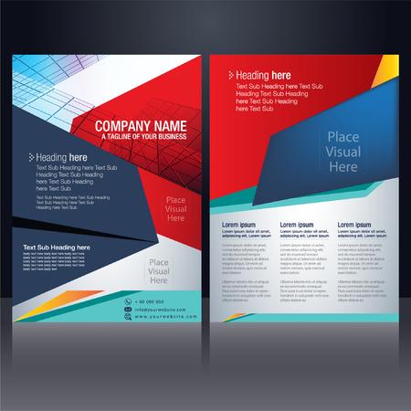 Vector - business flyer pamphlet brochure poster cover design layout template background vector illustration